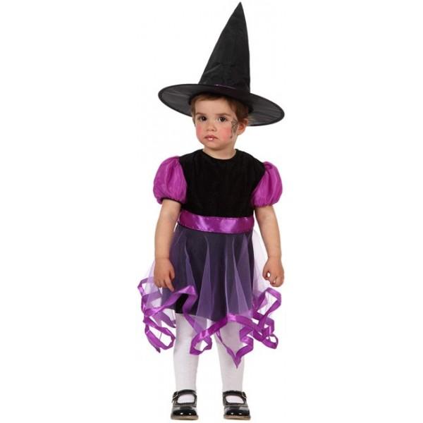 d guisement sorci re b b fluo 12 24 mois la magie du deguisement achat costumes halloween. Black Bedroom Furniture Sets. Home Design Ideas