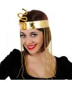 bandeau égyptien avec perles et serpent - accessoire déguisements