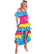 Déguisement de brésilienne pour femme, robe brésilienne multicolore - Carnaval de Rio