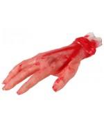 Main en sang, idéale pour accessoiriser un costume de zombie  (24 x 10 cm environ)