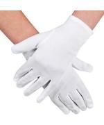 Paire de gants blancs pour adultes, idéale pour compléter de nombreux déguisements et costumes