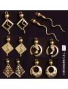 bijoux egyptiens, boucles d'oreilles egyptiennes avec serpents - accessoire deguisement