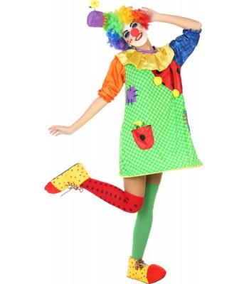 Déguisement clown femme multicolore
