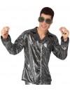 chemise disco argent à paillettes pour homme - deguisements disco, années 70