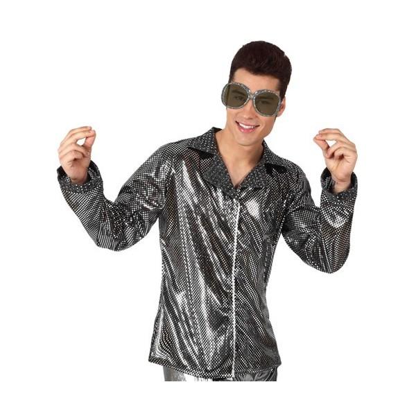 chemise disco homme argent la magie du deguisement. Black Bedroom Furniture Sets. Home Design Ideas