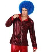 Chemise disco rouge pour homme - accessoire deguisements disco
