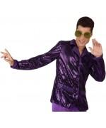 Chemise disco violette pour homme - accessoire costume disco - WA088A
