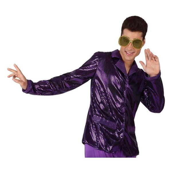 chemise disco homme violette la magie du deguisement. Black Bedroom Furniture Sets. Home Design Ideas