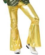 pantalon disco pour homme, couleur or - 3 tailles disponibles (S, ML, XL)