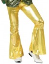 Pantalon disco homme or