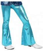 Pantalon disco bleu brillant pour homme - deguisements disco