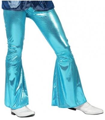Pantalon disco homme bleu