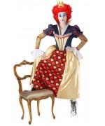 deguisement reine de coeur femme, personnage de dessins animés - Alice in Wonderland