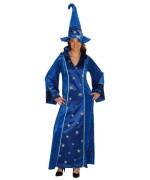 deguisement magicienne adulte, costume magicien mixte ZA082S