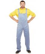 deguisement Coluche adulte, salopette et t-shirt - FA046S0