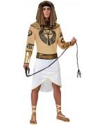 Deguisement egyptien pour homme avec coiffe et brassards