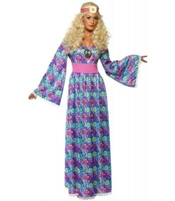 Déguisement hippie femme flower power