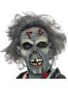 masque de zombie en latex avec cheveux - masques halloween