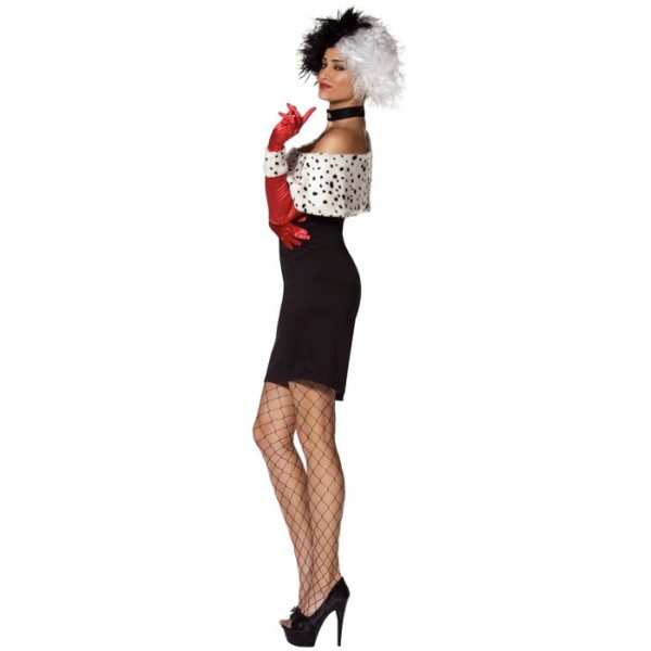 d guisement cruella adulte sexy la magie du deguisement costumes personnages disney. Black Bedroom Furniture Sets. Home Design Ideas