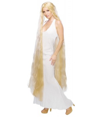 Perruque princesse blonde cheveux longs