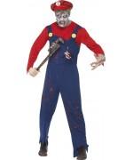 deguisement Mario zombie halloween avec casquette - costume halloween