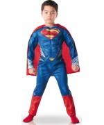 deguisement Superman Man of Steel, torse musclé - costume enfant 3 - 8 ans