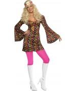 deguisement années 60 femme, robe hippie