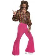 deguisement années 60 pour homme au style rétro et fluo - costume disco hippie