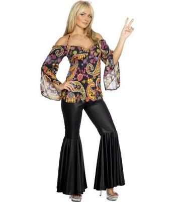 déguisement femme hippie année 70 - la magie du deguisement, années