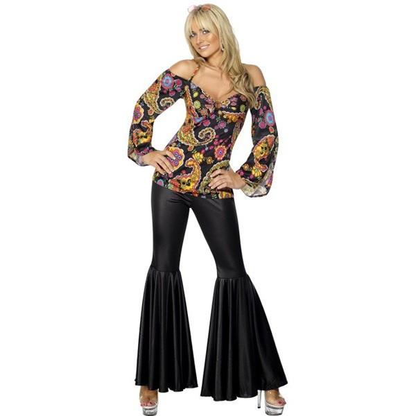 d guisement femme hippie ann e 70 la magie du deguisement ann es 70 et grandes tailles. Black Bedroom Furniture Sets. Home Design Ideas