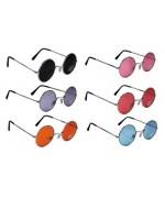 lunettes hippie rondes, 6 couleurs disponibles