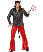 deguisement diable disco pour adulte, le démon de minuit - costume halloween