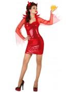 deguisement diablesse disco, femme demoniaque - nouvel an et halloween