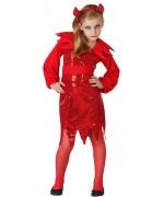 déguisement diablesse disco avec robe, ceinture et cornes - costume halloween