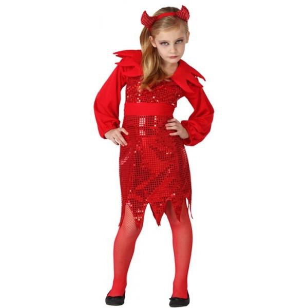 D guisement diablesse disco enfant la magie du deguisement achat costumes halloween Maquillage de diablesse facile a faire