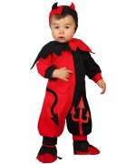 deguisement diable bébé rouge et noir - costume halloween 0 à 24 mois