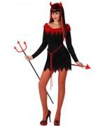 deguisement de diablesse rouge et noire femme - déguisement halloween