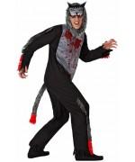 dguisement de loup halloween adulte, incarnez le grand méchant loup du conte le petit chaperon rouge