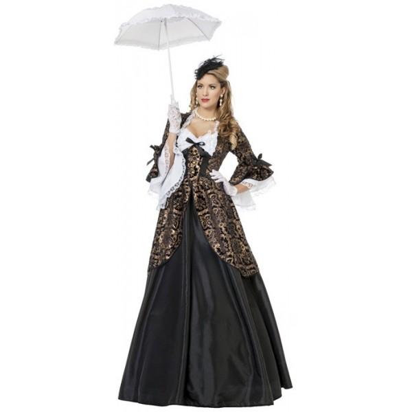 déguisement marquise noire adulte luxe , costume carnaval