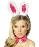 Oreilles de lapin avec noeud et queue, kit de deguisement lapin pour femme - BZ190A