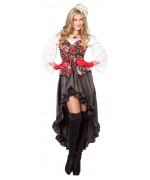 déguisement de pirate pour femme avec tête de mort - SA003S