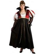Déguisement grande taille femme, vampire royale - costume halloween adulte