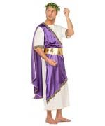 déguisement romain homme luxe, empereur romain violet - SA020S