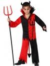 deguisement diable noir et rouge enfant de 3 à 12 ans - costume halloween