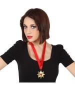 medaillon de vampire, collier déguisement vampire femme