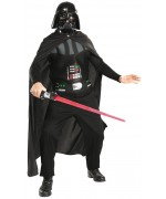 Deguisement star wars adulte Dark Vador, combinaison, cape et masque