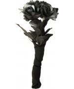 Bouquet de roses noires et grises 30 cm - déguisement mariée gothique halloween
