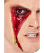 cicatrice avec fermeture éclair - maquillage halloween