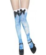 Bas bleus déguisement Alice au pays des merveilles LSD - bas halloween