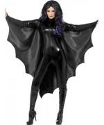 Cape noir chauve-souris halloween - deguisement vampire